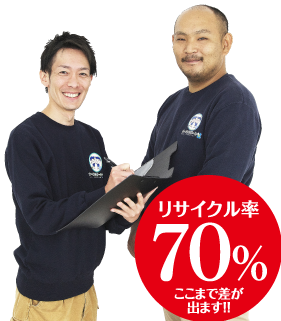 オールサポート名古屋では買取り、リサイクルで費用をぎゅっと抑えられます